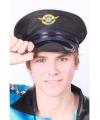 Piloten hoeden met blauwe rand